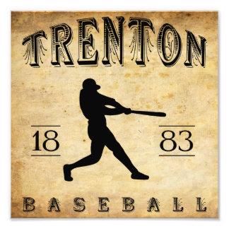 Béisbol 1883 de Trenton New Jersey Impresiones Fotográficas
