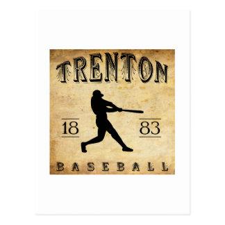 Béisbol 1883 de Trenton New Jersey Tarjeta Postal