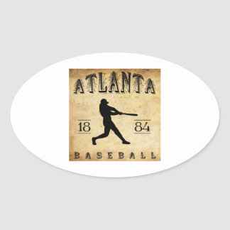 Béisbol 1884 de Atlanta Georgia Pegatina Ovalada