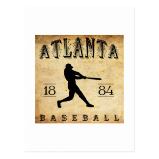 Béisbol 1884 de Atlanta Georgia Tarjetas Postales