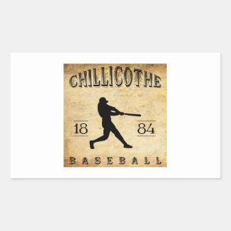 Béisbol 1884 de Chillicothe Ohio Pegatina Rectangular