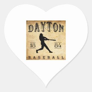 Béisbol 1884 de Dayton Ohio Pegatina Corazón