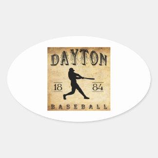 Béisbol 1884 de Dayton Ohio Pegatina Ovalada