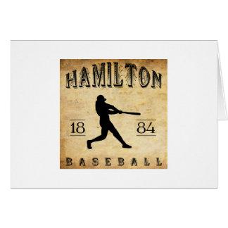 Béisbol 1884 de Hamilton Ohio Felicitaciones