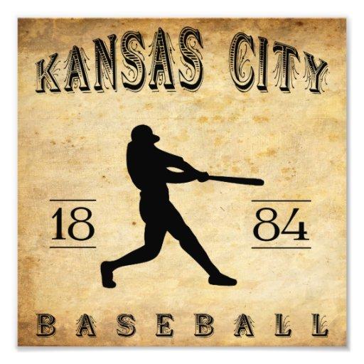 Béisbol 1884 de Kansas City Missouri Fotografía