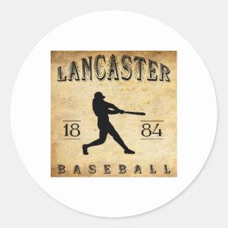 Béisbol 1884 de Lancaster Pennsylvania Pegatina Redonda