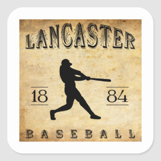 Béisbol 1884 de Lancaster Pennsylvania Pegatina Cuadrada