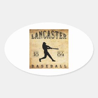 Béisbol 1884 de Lancaster Pennsylvania Pegatina Ovalada