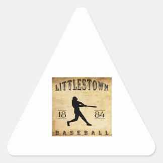 Béisbol 1884 de Littlestown Pennsylvania Pegatina Triangular