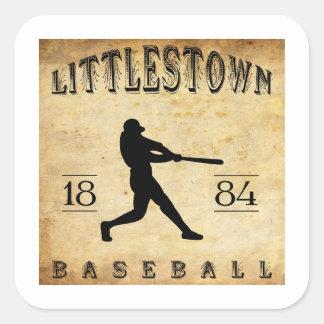Béisbol 1884 de Littlestown Pennsylvania Pegatina Cuadrada