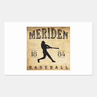 Béisbol 1884 de Meriden Connecticut Pegatina Rectangular