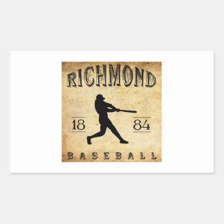 Béisbol 1884 de Richmond Virginia Pegatina Rectangular