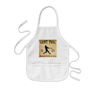 Béisbol 1884 de Saint Paul Minnesota Delantal Infantil