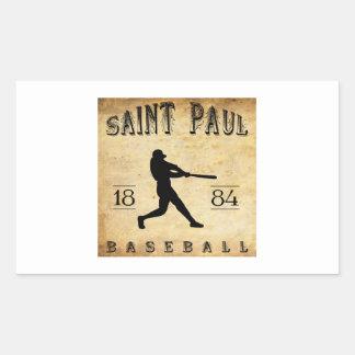 Béisbol 1884 de Saint Paul Minnesota Pegatina Rectangular