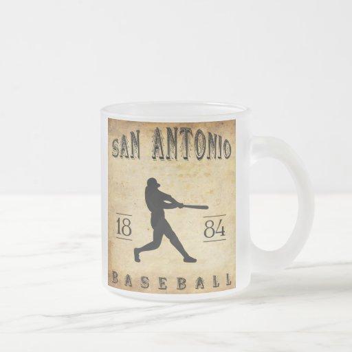 Béisbol 1884 de San Antonio Tejas Taza De Cristal
