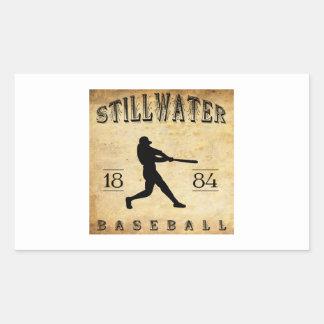 Béisbol 1884 de Stillwater Minnesota Pegatina Rectangular