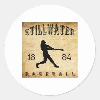 Béisbol 1884 de Stillwater Minnesota Pegatina Redonda