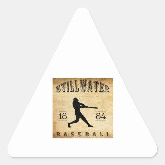 Béisbol 1884 de Stillwater Minnesota Pegatina Triangular