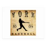 Béisbol 1884 de York Pennsylvania Postales