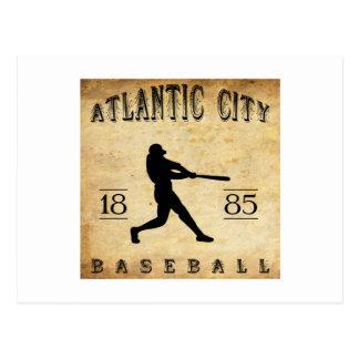 Béisbol 1885 de Atlantic City New Jersey Tarjeta Postal