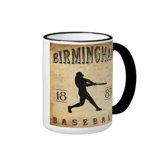 Béisbol 1885 de Birmingham Alabama Taza De Dos Colores