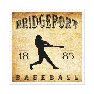 Béisbol 1885 de Bridgeport Connecticut Lienzo Envuelto Para Galerias