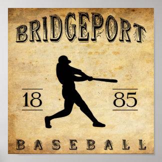 Béisbol 1885 de Bridgeport Connecticut Poster
