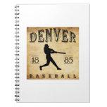 Béisbol 1885 de Denver Colorado Libro De Apuntes