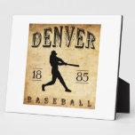 Béisbol 1885 de Denver Colorado Placa De Madera