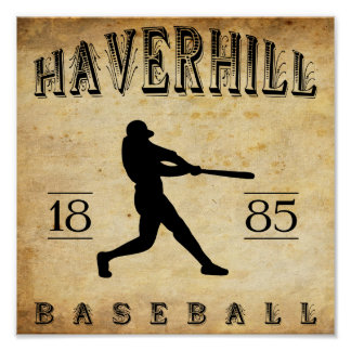 Béisbol 1885 de Haverhill Massachusetts Posters
