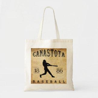 Béisbol 1886 de Canastota Nueva York Bolsas Lienzo