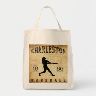 Béisbol 1886 de Charleston Carolina del Sur Bolsas Lienzo