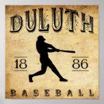 Béisbol 1886 de Duluth Minnesota Impresiones