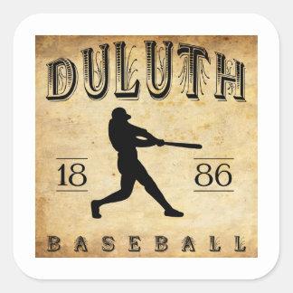 Béisbol 1886 de Duluth Minnesota Pegatina Cuadrada