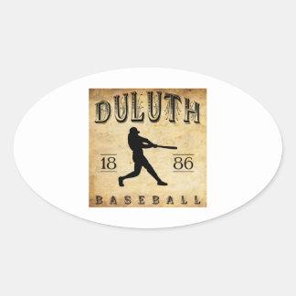 Béisbol 1886 de Duluth Minnesota Pegatina Ovalada