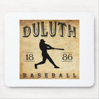Béisbol 1886 de Duluth Minnesota Alfombrillas De Ratones