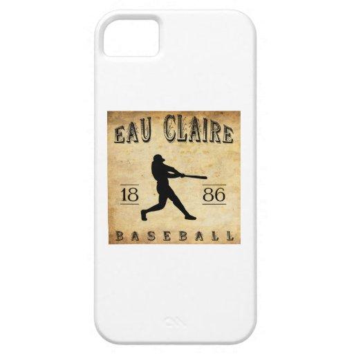 Béisbol 1886 de Eau Claire Wisconsin iPhone 5 Funda