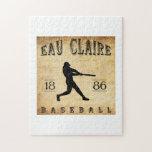 Béisbol 1886 de Eau Claire Wisconsin Rompecabeza Con Fotos