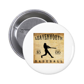 Béisbol 1886 de Leavenworth Kansas Pin Redondo De 2 Pulgadas