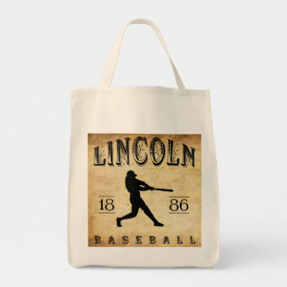Béisbol 1886 de Lincoln Nebraska Bolsa Lienzo