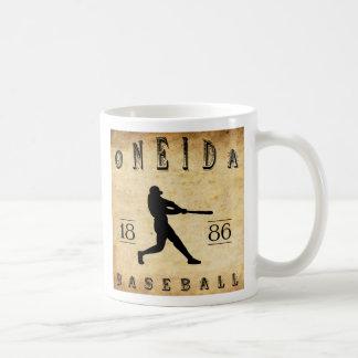 Béisbol 1886 de Nueva York del Oneida Taza Básica Blanca