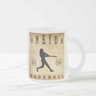 Béisbol 1886 de Nueva York del Oneida Taza Cristal Mate