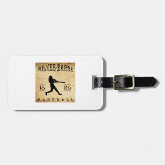 Béisbol 1886 de Pennsylvania de la Wilkes-Barra Etiqueta Para Maleta