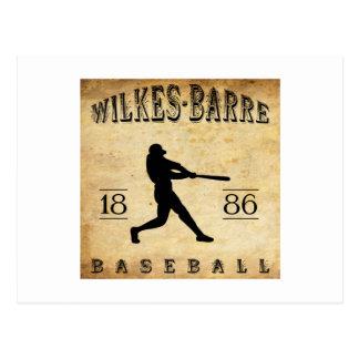 Béisbol 1886 de Pennsylvania de la Wilkes-Barra Tarjeta Postal