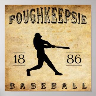 Béisbol 1886 de Poughkeepsie Nueva York Póster