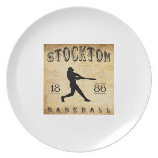 Béisbol 1886 de Stockton California Plato