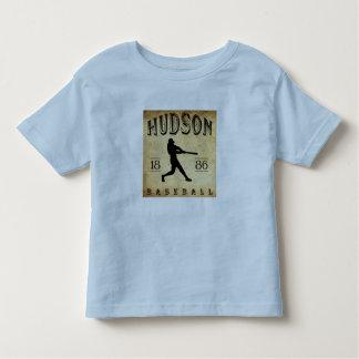 Béisbol 1886 del Hudson Nueva York Playera De Bebé