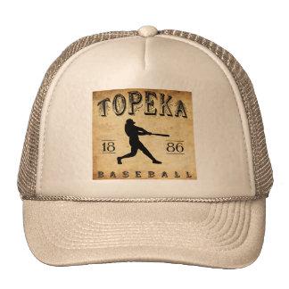 Béisbol 1886 del Topeka Kansas Gorros