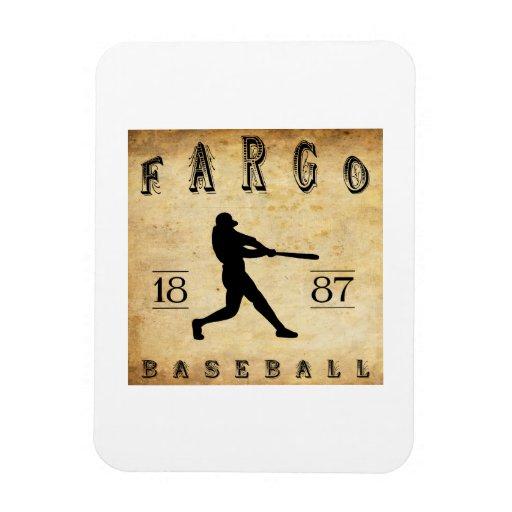 Béisbol 1887 de Fargo Dakota del Norte Imanes
