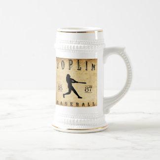 Béisbol 1887 de Joplin Missouri Jarra De Cerveza